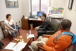 Gilead advocating for quality mental health services with State Senator Art Linares.